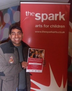 OLYMPUDipan Bhagalia with his certificate marking his bravery and the £100 that he raisedS DIGITAL CAMERA