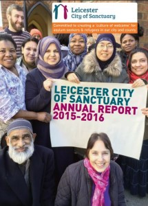 Leicester City of Sanctuary annual report cover