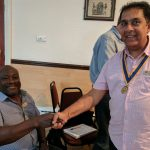New President Pradeep welcomes new member Mark