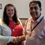Outgoing President Gemma Kiddy with Incoming President Pradeep