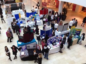 Young Enterprise will hold a trade fair at High Cross, Leicester, on February 25, 2018. This photo shows the same event held there in 2013