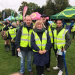 The four Novus Rotarians ready to marshal the hugely-successful Memory Walk