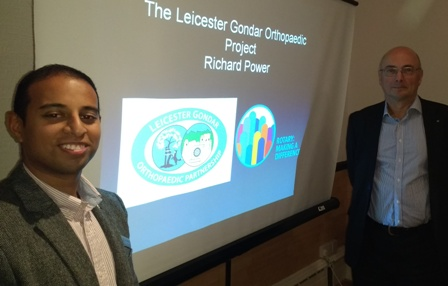 President-Elect Jason Chauhan with guest speaker Richard Power, President of the Rotary Club of Leicester