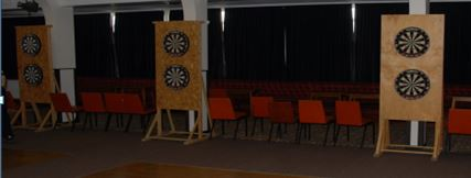 Six dartboards outside Stamford, Lincs