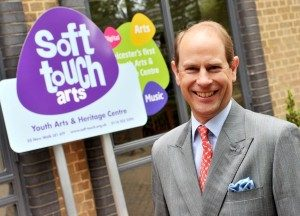 Prince Edward opening the Soft Touch Arts building in 2016