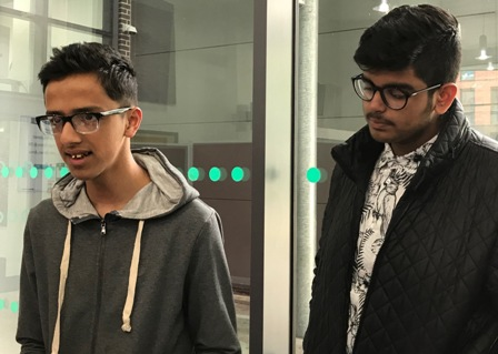 Milan Aryal and Manjot Singh from Lancaster Academy