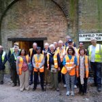 Guests and guides about to explore Glenfield Tunnel