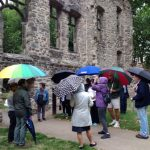 Umbrellas up as Rotary starts its tour of Abbey Park