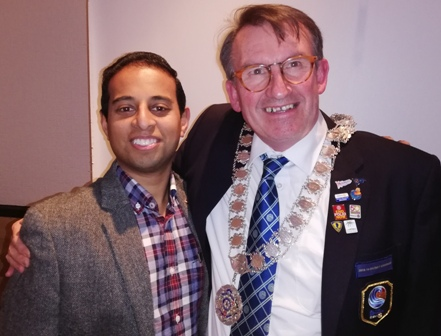 Rotarians in arms... President Jason Chauhan and District Governor Tim Tucker