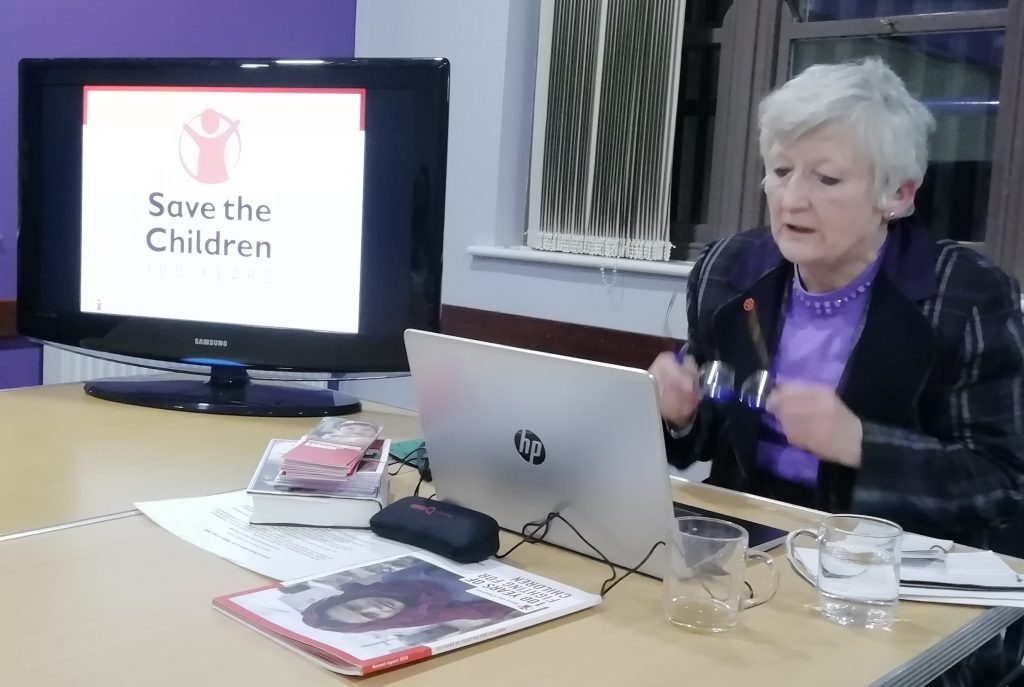 Josephine Burgess talking about the centenary of the Save The Children Fund