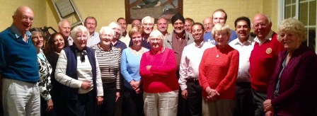 Two teams united in Rotary fellowship