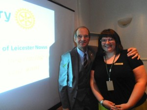 Assistant Governor Les Aldrich and incoming president Gemma Kiddy
