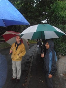 The rain did not stop Serge Mozota and Deepak Karia enjoying seeking treasure.