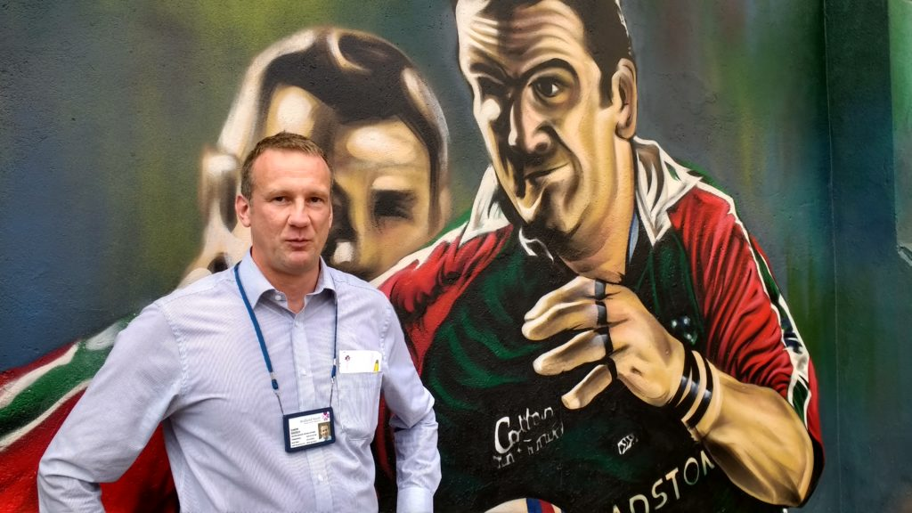 Simon Breddy, Neighbourhood Housing Officer for Midland Haart, owners of the mural wall, comments on the 'uplift' the mural has brough to the area