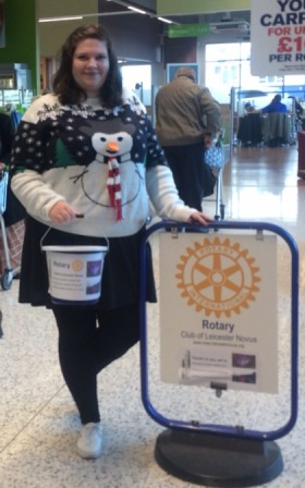 President Gemma Kiddy uses the Rotary sign for her ballet practice