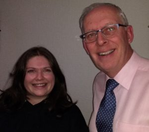Immediate Past President of the Rotary Club of Leicester with Novus President Gemma Kiddy.