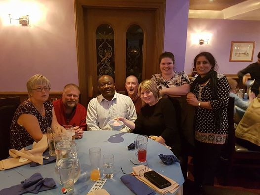 The Leicester Novus table at the Oadby Curry Night