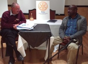 Jim Matthews questions new member Mark Esho about his past, present and future...