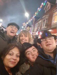 Sarita with Tom, Alex, Caroline and Jim in The Golden Mile