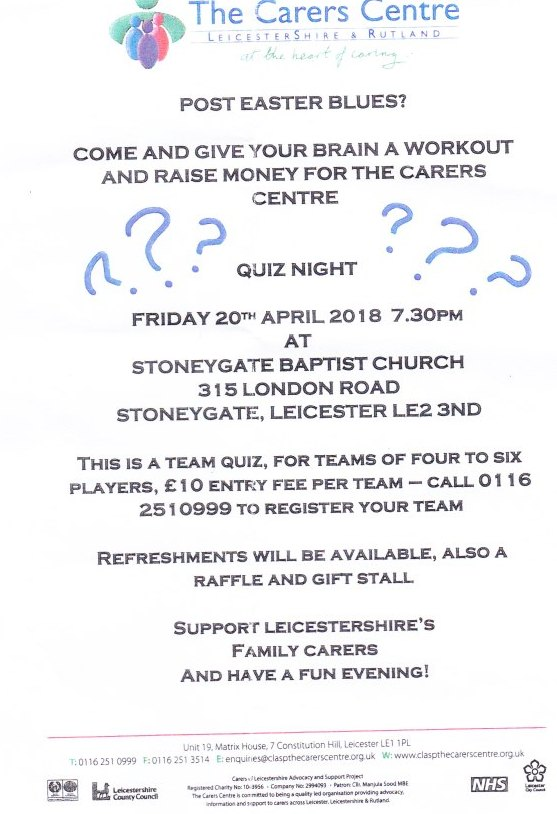 The Carers Centre Quiz Night
