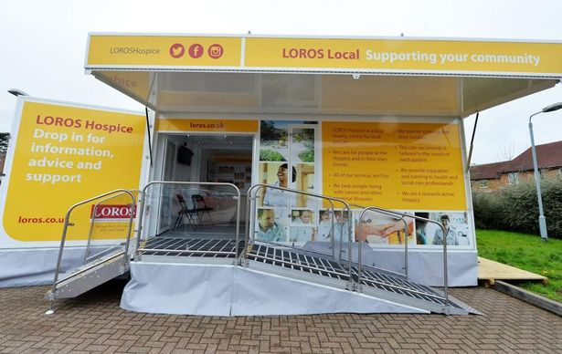 The LOROS Local vehicle taken off the road after it was damaged by thieves