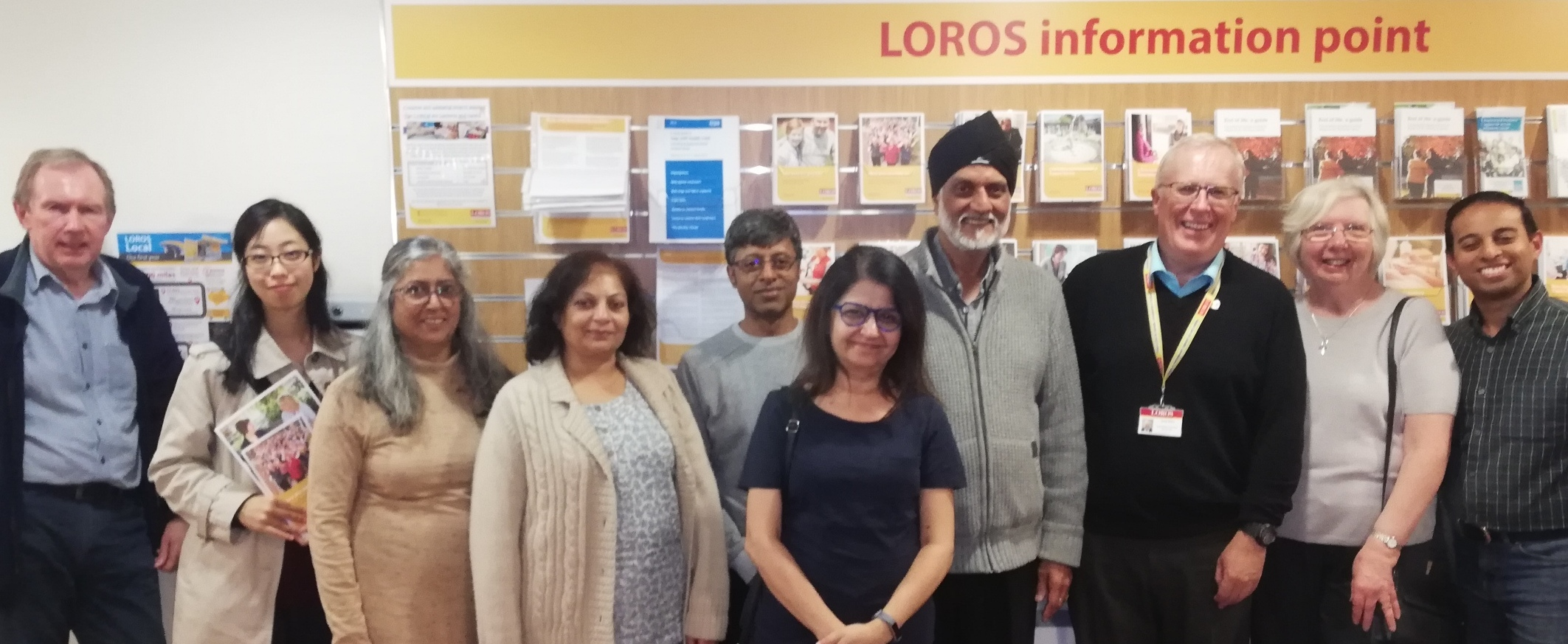 LOROS visitors with their guide, Adrian Walker