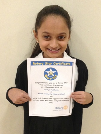Ananya Pankhania for being kind, friendly and supportive to others, having a super work ethic and good leadership skills