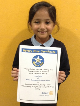 Arya Patel for being kind-hearted, having a clear understanding of right and wrong and always smiling