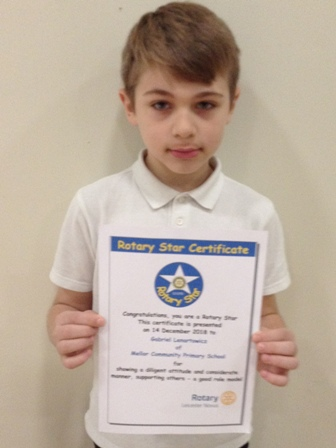 Gabriel Lenartowicz for showing a diligent attitude and considerate manner, supporting others - a good role model