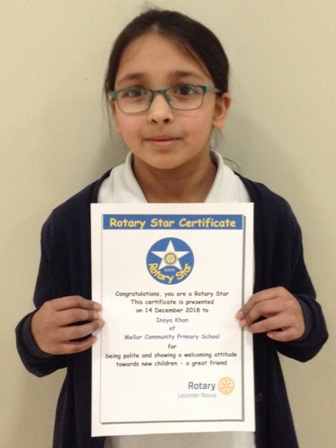 Inaya Khan for being polite and showing a welcoming attitude towards new children - a great friend
